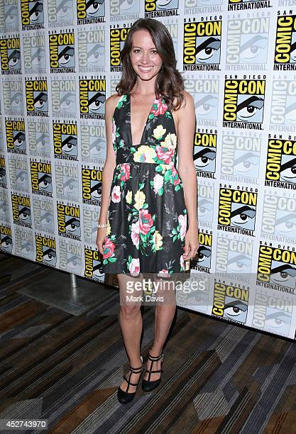 Actress Amy Acker attends 'Person of Interest' Press Line during ComicCon International 2014 at Hilton Bayfront on July 26 2014 in San Diego...