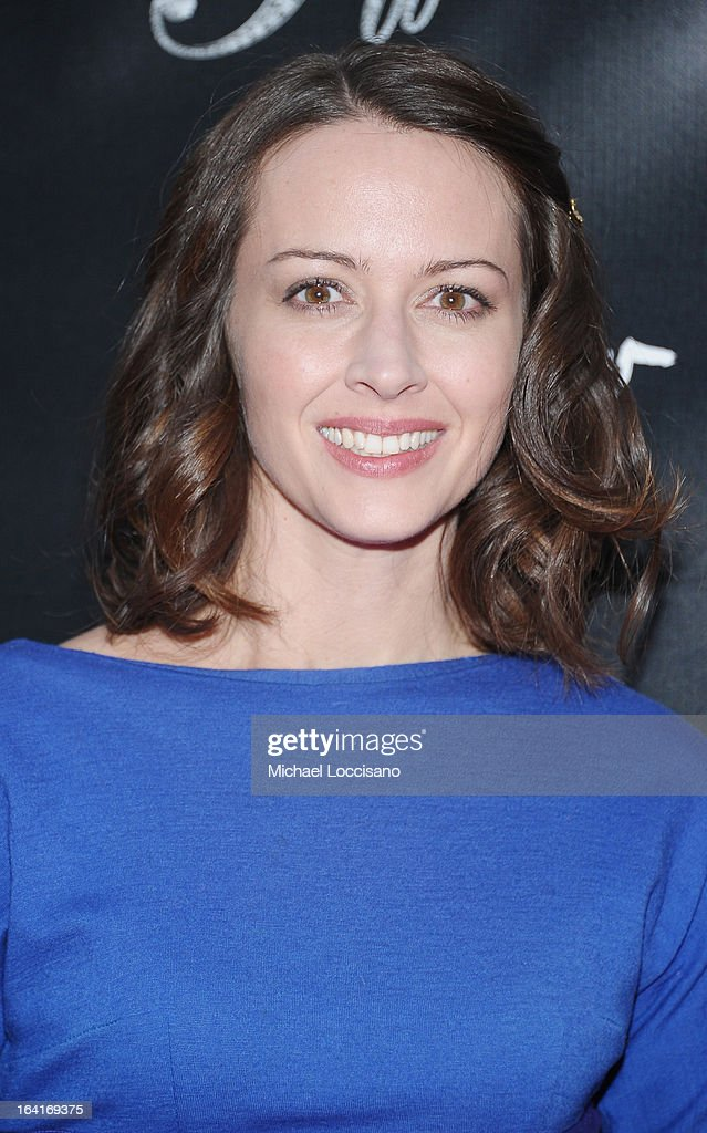Actress Amy Acker attends the 'Breakfast At Tiffany's' Broadway Opening Night at Cort Theatre on March 20, 2013 in New York City.