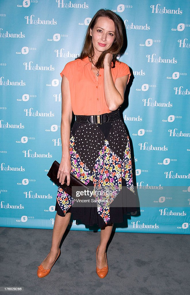 Actress Amy Acker attends the CWSeed 'Husbands' premiere at The Paley Center for Media on August 14, 2013 in Beverly Hills, California.