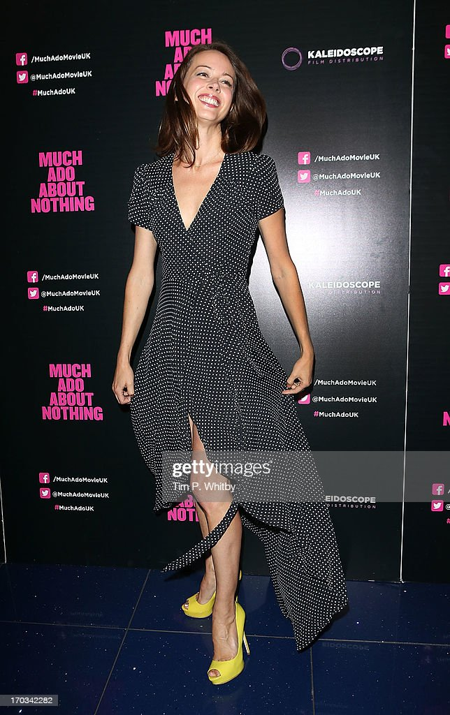 Actress <a gi-track='captionPersonalityLinkClicked' href=/galleries/search?phrase=Amy+Acker&family=editorial&specificpeople=715944 ng-click='$event.stopPropagation()'>Amy Acker</a> attends the gala screening of 'Much Ado About Nothing' at Apollo Piccadilly Circus on June 11, 2013 in London, England.