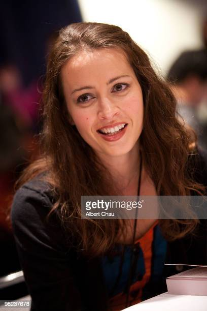 Actress Amy Acker attends the 'Happy Town' panel at the 2010 WonderCon Day 2 at Moscone Center South on April 3 2010 in San Francisco California