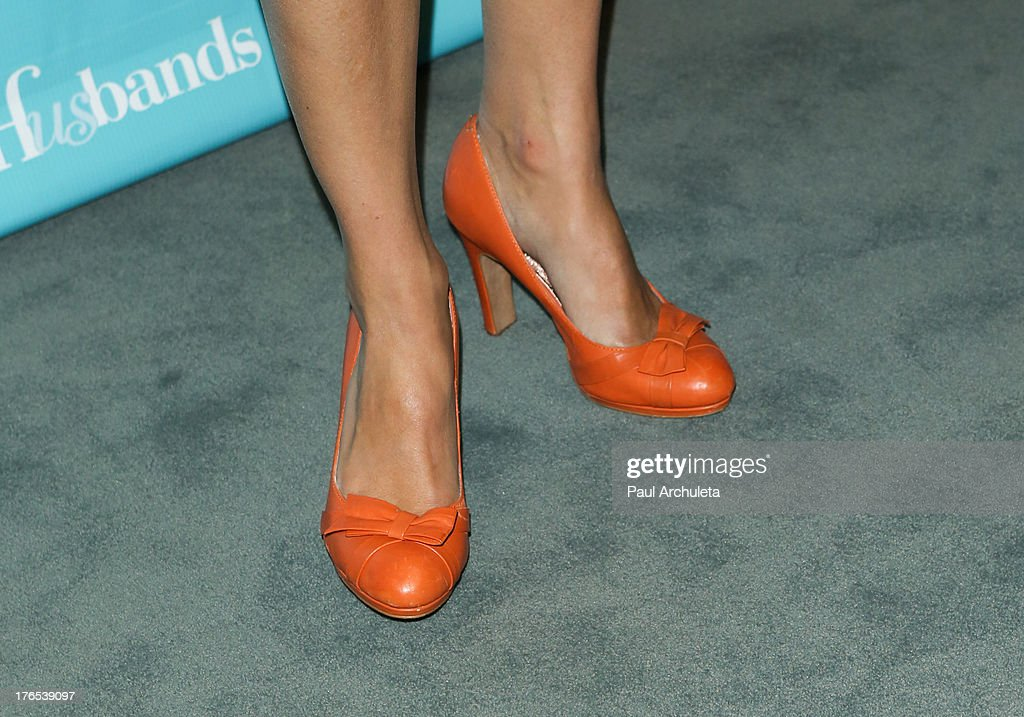 Actress Amy Acker (Shoe Detail) attends the premiere of 'Husbands' at The Paley Center for Media on August 14, 2013 in Beverly Hills, California.