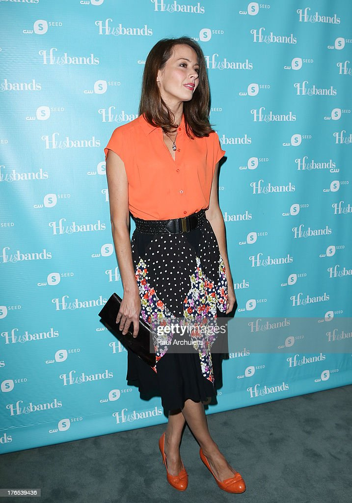 Actress Amy Acker attends the premiere of 'Husbands' at The Paley Center for Media on August 14, 2013 in Beverly Hills, California.