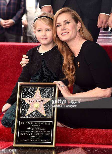 Actress Amy Adams and Aviana Olea Le Gallo attend star ceremony on the Hollywood Walk of Fame on January 11 2017 in Hollywood California