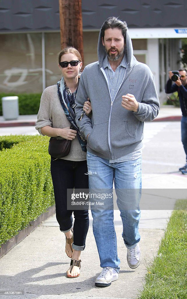 Actress <a gi-track='captionPersonalityLinkClicked' href=/galleries/search?phrase=Amy+Adams&family=editorial&specificpeople=213938 ng-click='$event.stopPropagation()'>Amy Adams</a> and <a gi-track='captionPersonalityLinkClicked' href=/galleries/search?phrase=Darren+Le+Gallo&family=editorial&specificpeople=866858 ng-click='$event.stopPropagation()'>Darren Le Gallo</a> are seen on April 2, 2014 in Los Angeles, California.