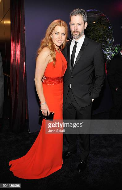 Actress Amy Adams and Darren Le Gallo attend The 2016 InStyle and Warner Bros 73rd annual Golden Globe Awards PostParty at The Beverly Hilton Hotel...