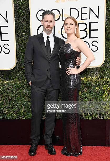 Actress Amy Adams and Darren Le Gallo attend the 74th Annual Golden Globe Awards at The Beverly Hilton Hotel on January 8 2017 in Beverly Hills...