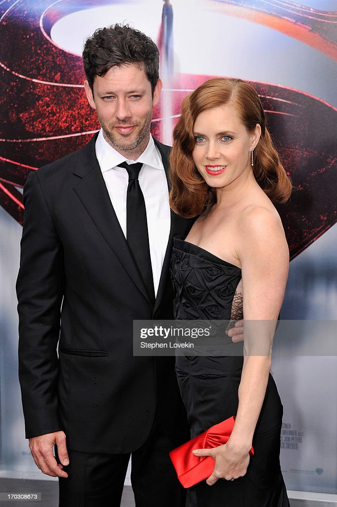 Actress Amy Adams (R) and Darren Le Gallo attend the 'Man Of Steel' world premiere at Alice Tully Hall at Lincoln Center on June 10, 2013 in New York City.