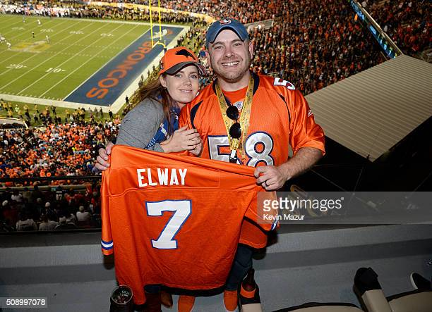 Actress Amy Adams and her brother Rich Adams attend Super Bowl 50 at Levi's Stadium on February 7 2016 in Santa Clara California