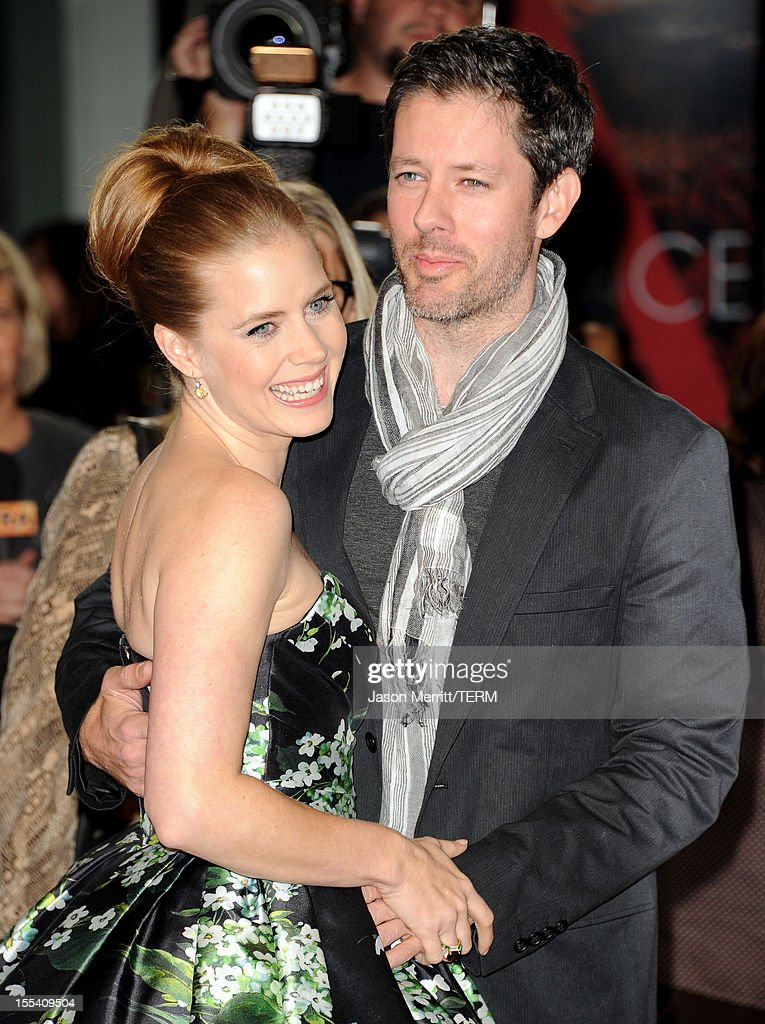Actress <a gi-track='captionPersonalityLinkClicked' href=/galleries/search?phrase=Amy+Adams&family=editorial&specificpeople=213938 ng-click='$event.stopPropagation()'>Amy Adams</a> (L) and husband <a gi-track='captionPersonalityLinkClicked' href=/galleries/search?phrase=Darren+Le+Gallo&family=editorial&specificpeople=866858 ng-click='$event.stopPropagation()'>Darren Le Gallo</a> arrive at the 'On The Road' premiere during the 2012 AFI Fest presented by Audi at Grauman's Chinese Theatre on November 3, 2012 in Hollywood, California.