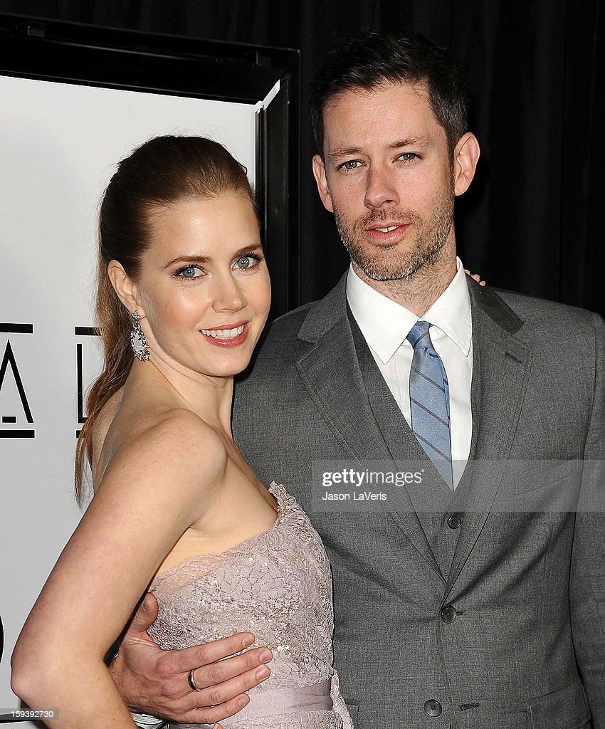 Actress Amy Adams and husband Darren Le Gallo attend the 38th annual Los Angeles Film Critics Association Awards at InterContinental Hotel on January 12, 2013 in Century City, California.