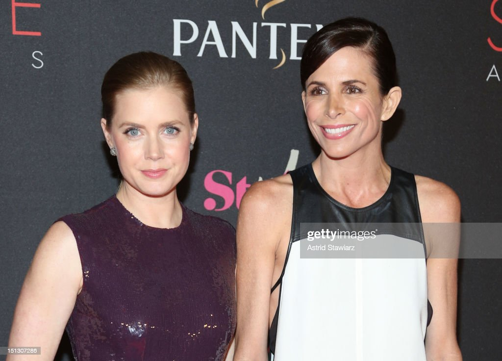 Actress <a gi-track='captionPersonalityLinkClicked' href=/galleries/search?phrase=Amy+Adams&family=editorial&specificpeople=213938 ng-click='$event.stopPropagation()'>Amy Adams</a> (L) and stylist Christina Erlich attend the 9th annual Style Awards during Mercedes-Benz Fashion Week at The Stage at Lincoln Center on September 5, 2012 in New York City.