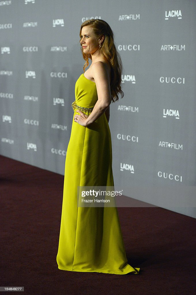 Actress Amy Adams arrives at LACMA 2012 Art + Film Gala Honoring Ed Ruscha and Stanley Kubrick presented by Gucci at LACMA on October 27, 2012 in Los Angeles, California.