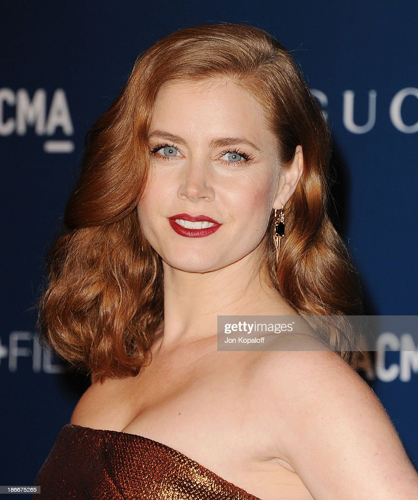 Actress Amy Adams arrives at LACMA 2013 Art + Film Gala at LACMA on November 2, 2013 in Los Angeles, California.
