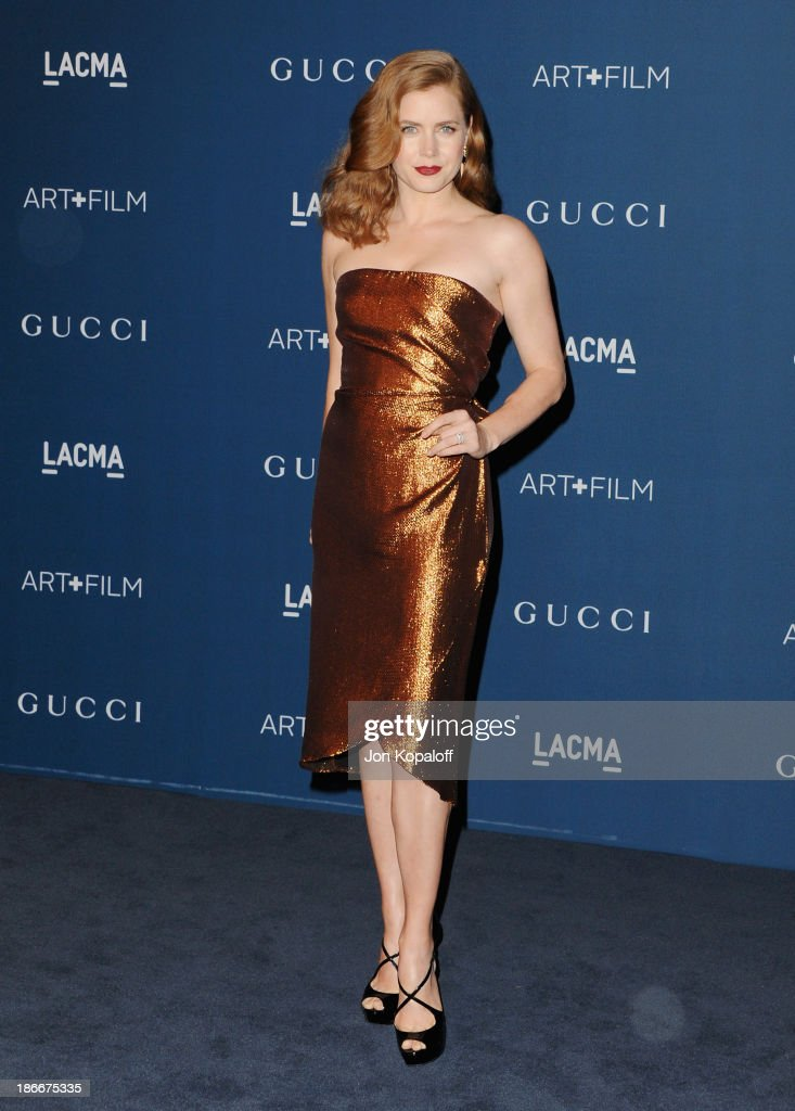 Actress <a gi-track='captionPersonalityLinkClicked' href=/galleries/search?phrase=Amy+Adams&family=editorial&specificpeople=213938 ng-click='$event.stopPropagation()'>Amy Adams</a> arrives at LACMA 2013 Art + Film Gala at LACMA on November 2, 2013 in Los Angeles, California.