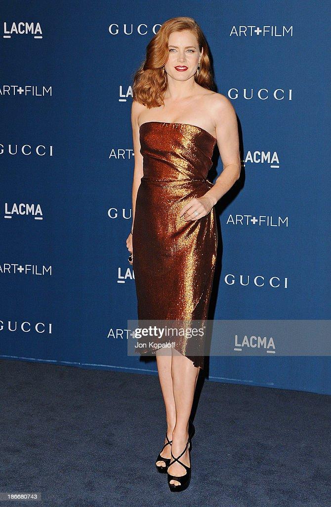 Actress Amy Adams arrives at LACMA 2013 Art + Film Gala at LACMA on November 2, 2013 in Los Angeles, California.