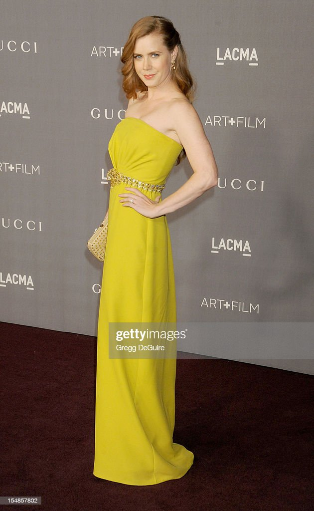 Actress <a gi-track='captionPersonalityLinkClicked' href=/galleries/search?phrase=Amy+Adams&family=editorial&specificpeople=213938 ng-click='$event.stopPropagation()'>Amy Adams</a> arrives at LACMA Art + Gala at LACMA on October 27, 2012 in Los Angeles, California.