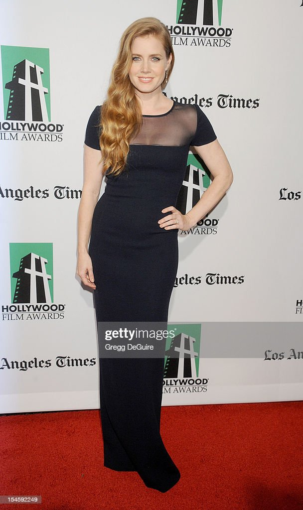 Actress <a gi-track='captionPersonalityLinkClicked' href=/galleries/search?phrase=Amy+Adams&family=editorial&specificpeople=213938 ng-click='$event.stopPropagation()'>Amy Adams</a> arrives at the 16th Annual Hollywood Film Awards Gala presented by the Los Angeles Times at The Beverly Hilton Hotel on October 22, 2012 in Beverly Hills, California.