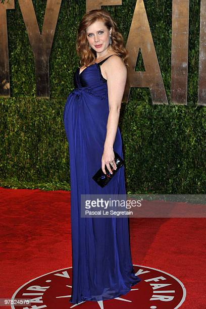 Actress Amy Adams arrives at the 2010 Vanity Fair Oscar Party hosted by Graydon Carter held at Sunset Tower on March 7 2010 in West Hollywood...