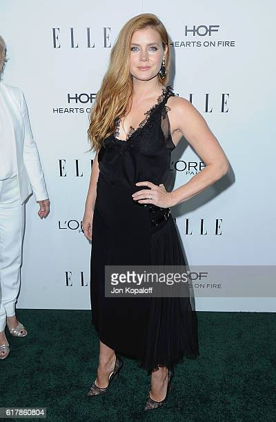 Actress Amy Adams arrives at the 23rd Annual ELLE Women In Hollywood Awards at Four Seasons Hotel Los Angeles at Beverly Hills on October 24 2016 in...