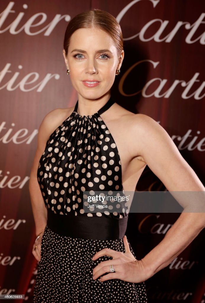 Actress <a gi-track='captionPersonalityLinkClicked' href=/galleries/search?phrase=Amy+Adams&family=editorial&specificpeople=213938 ng-click='$event.stopPropagation()'>Amy Adams</a> arrives at the 25th annual Palm Springs International Film Festival awards gala at Palm Springs Convention Center on January 4, 2014 in Palm Springs, California.