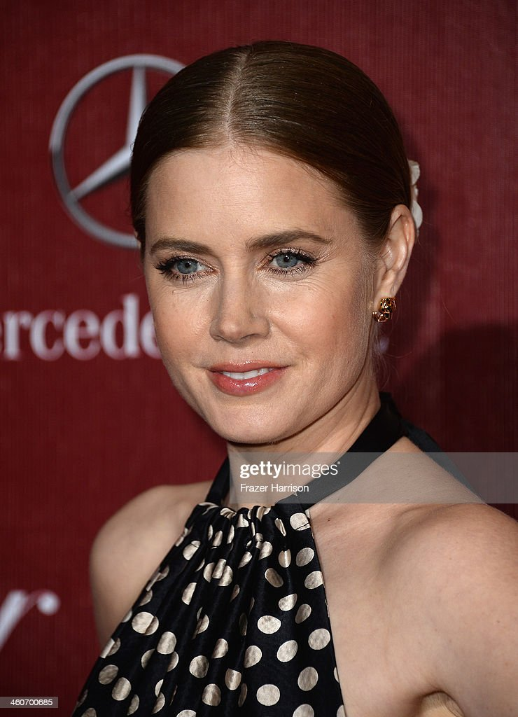 Actress Amy Adams arrives at the 25th Annual Palm Springs International Film Festival Awards Gala at Palm Springs Convention Center on January 4, 2014 in Palm Springs, California.
