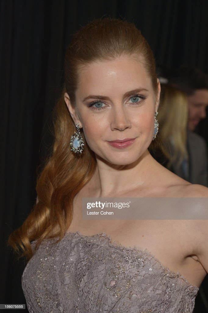 Actress Amy Adams arrives at the 38th Annual Los Angeles Film Critics Association Awards at InterContinental Hotel on January 12, 2013 in Century City, California.