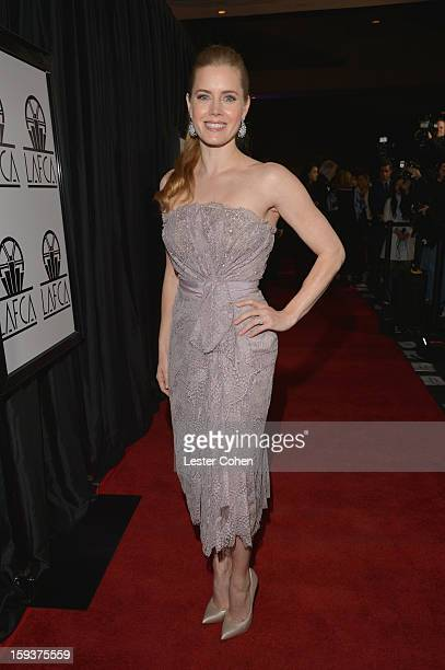 Actress Amy Adams arrives at the 38th Annual Los Angeles Film Critics Association Awards at InterContinental Hotel on January 12 2013 in Century City...