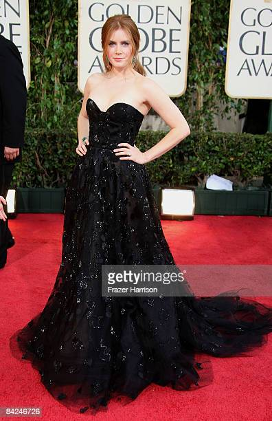 Actress Amy Adams arrives at the 66th Annual Golden Globe Awards held at the Beverly Hilton Hotel on January 11 2009 in Beverly Hills California