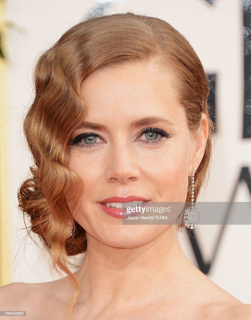 Actress Amy Adams arrives at the 70th Annual Golden Globe Awards held at The Beverly Hilton Hotel on January 13, 2013 in Beverly Hills, California.