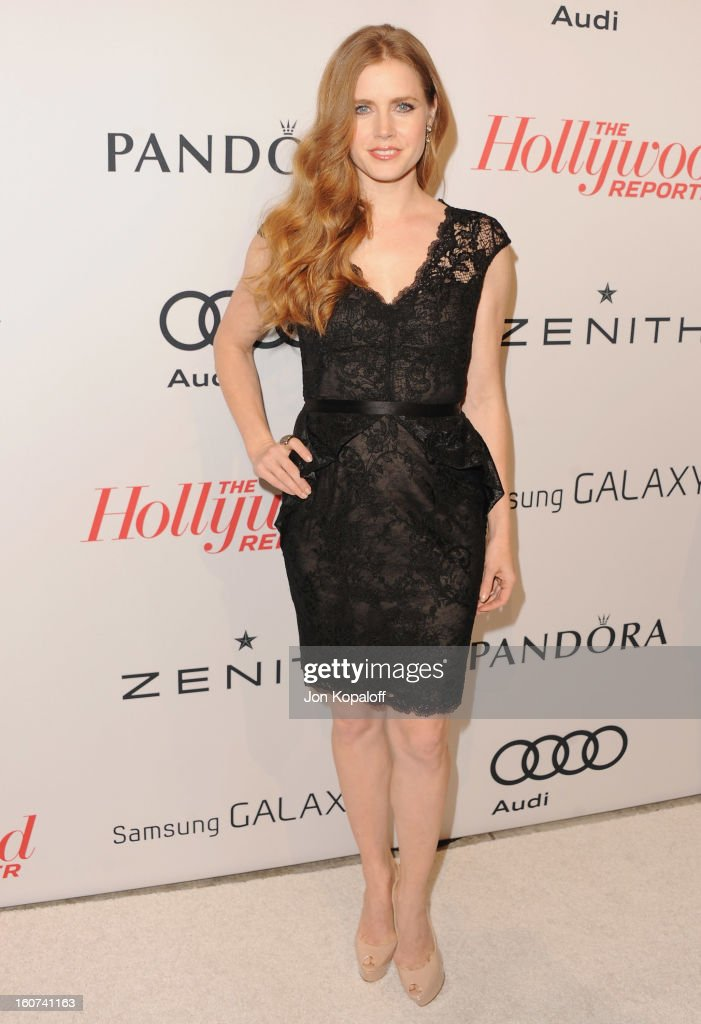 Actress <a gi-track='captionPersonalityLinkClicked' href=/galleries/search?phrase=Amy+Adams&family=editorial&specificpeople=213938 ng-click='$event.stopPropagation()'>Amy Adams</a> arrives at The Hollywood Reporter Nominees' Night 2013 Celebrating 85th Annual Academy Award Nominees at Spago on February 4, 2013 in Beverly Hills, California.