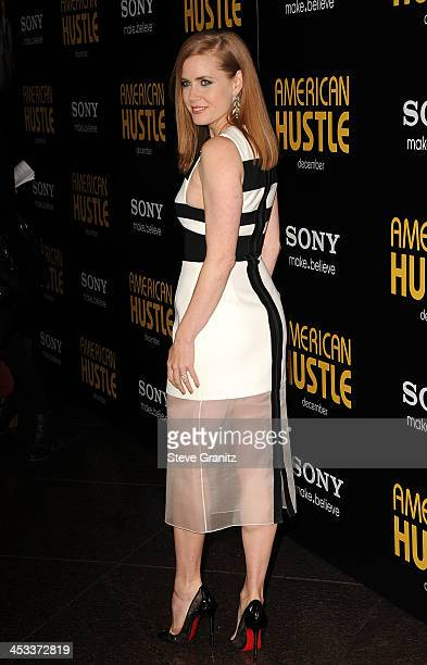 Actress Amy Adams arrives at the Los Angeles Premiere of 'American Hustle' at the Directors Guild Theatre on December 3 2013 in West Hollywood...