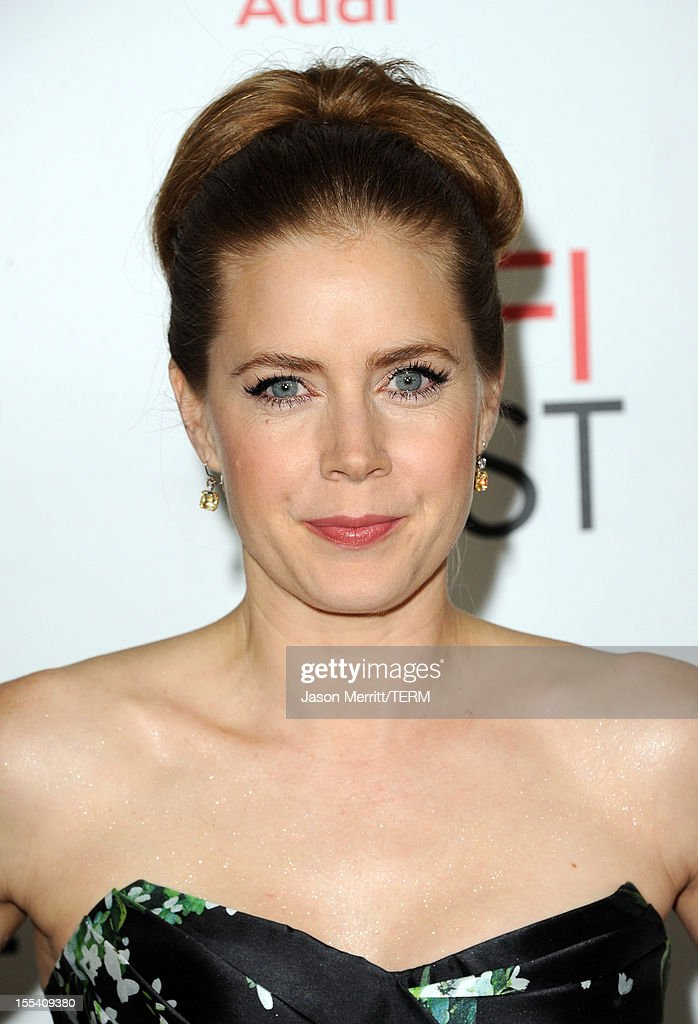 Actress <a gi-track='captionPersonalityLinkClicked' href=/galleries/search?phrase=Amy+Adams&family=editorial&specificpeople=213938 ng-click='$event.stopPropagation()'>Amy Adams</a> arrives at the 'On The Road' premiere during the 2012 AFI Fest presented by Audi at Grauman's Chinese Theatre on November 3, 2012 in Hollywood, California.