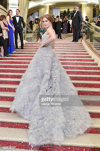 Actress Amy Adams arrives at the Oscars at Hollywood Highland Center on February 24 2013 in Hollywood California at Hollywood Highland Center on...