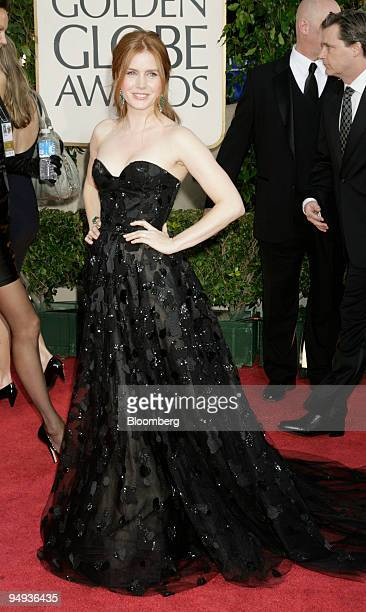 Actress Amy Adams arrives for the 66th Annual Golden Globe Awards in Beverly Hills California US on Sunday Jan 11 2009 Heath Ledger received a...