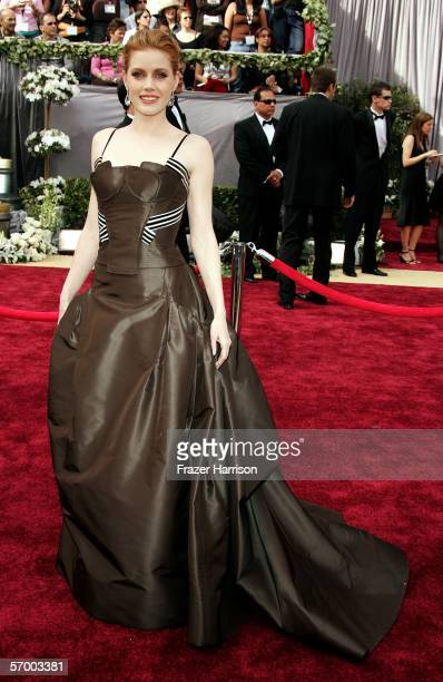 Actress Amy Adams arrives to the 78th Annual Academy Awards at the Kodak Theatre on March 5 2006 in Hollywood California