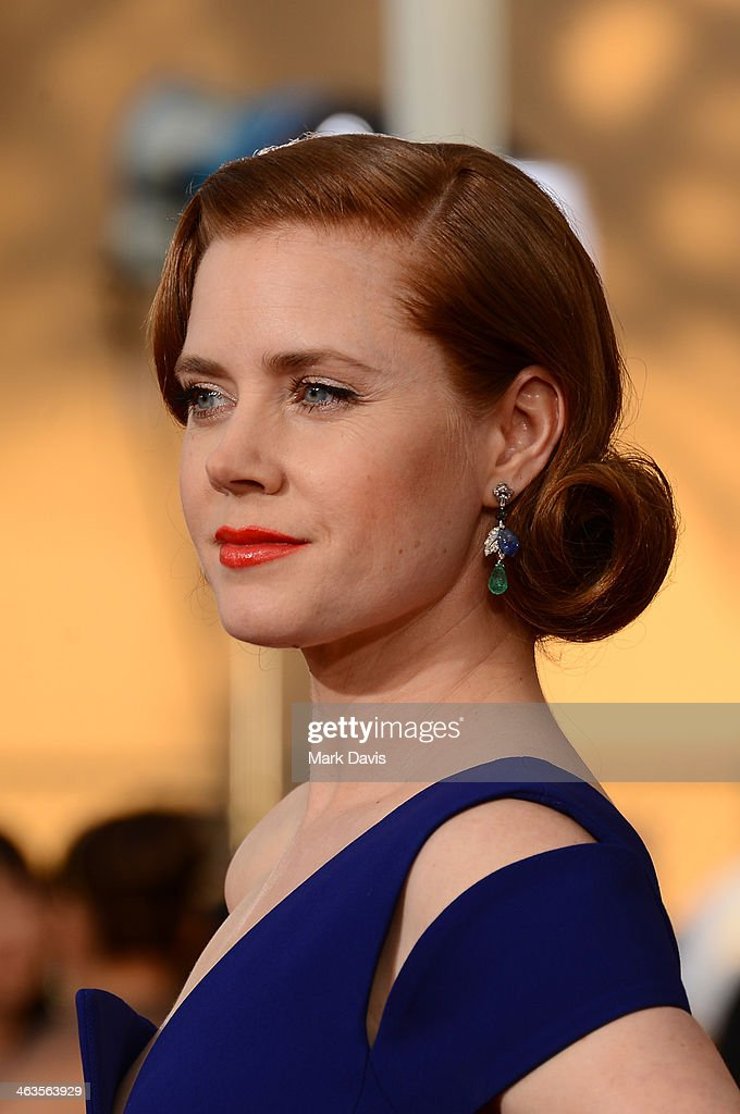 Actress <a gi-track='captionPersonalityLinkClicked' href=/galleries/search?phrase=Amy+Adams&family=editorial&specificpeople=213938 ng-click='$event.stopPropagation()'>Amy Adams</a> attends 20th Annual Screen Actors Guild Awards at The Shrine Auditorium on January 18, 2014 in Los Angeles, California.