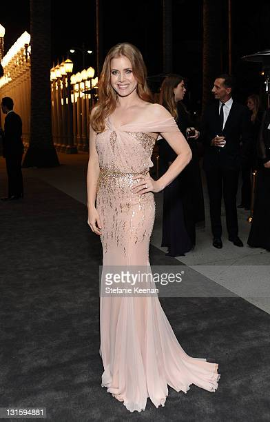 Actress Amy Adams attends LACMA Art Film Gala Honoring Clint Eastwood and John Baldessari Presented By Gucci at Los Angeles County Museum of Art on...