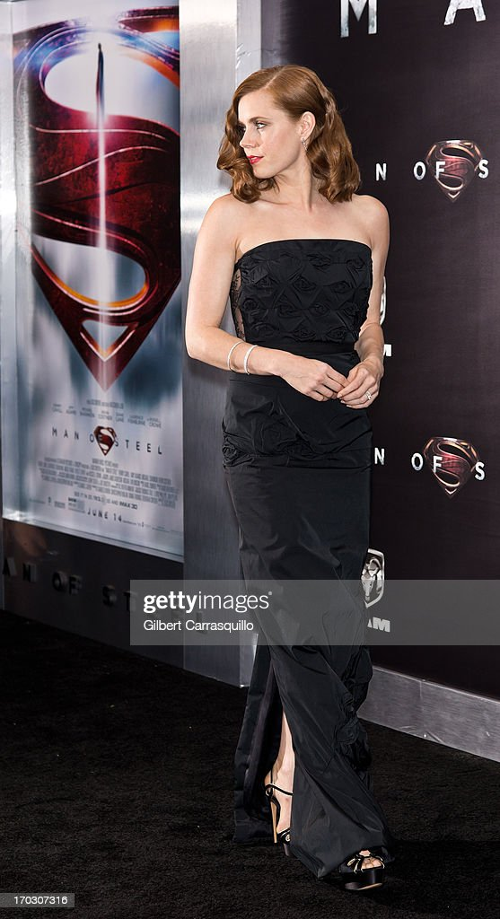 Actress Amy Adams attends 'Man Of Steel' World Premiere at Alice Tully Hall at Lincoln Center on June 10, 2013 in New York City.