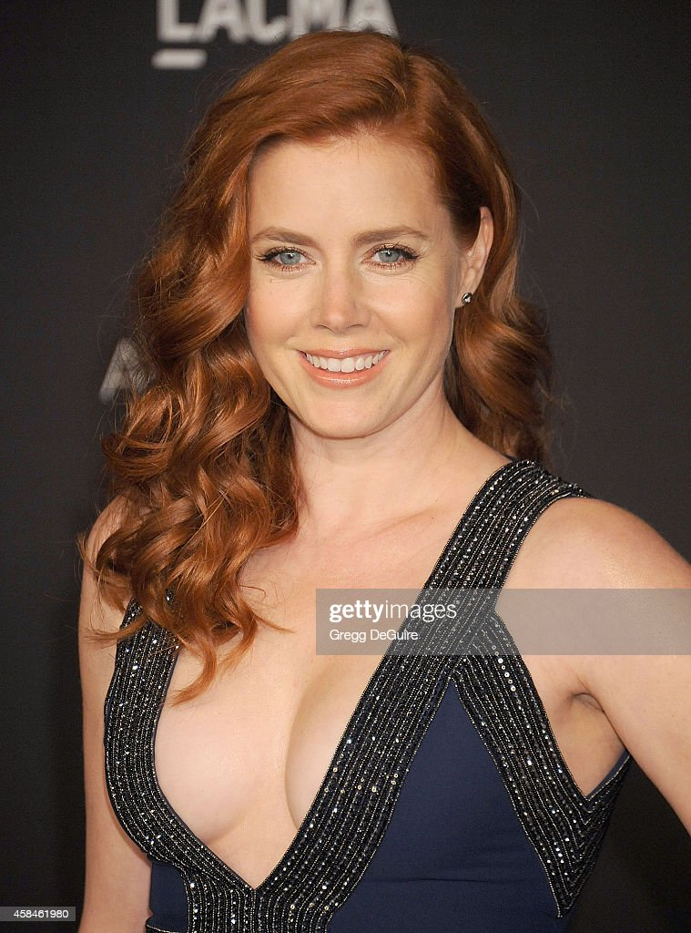Actress Amy Adams attends the 2014 LACMA Art Film Gala Honoring Barbara Kruger And Quentin Tarantino Presented By Gucci at LACMA on November 1 2014...