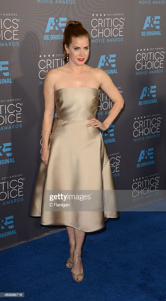 Actress Amy Adams attends The 20th Annual Critics' Choice Movie Awards at Hollywood Palladium on January 15, 2015 in Los Angeles, California.