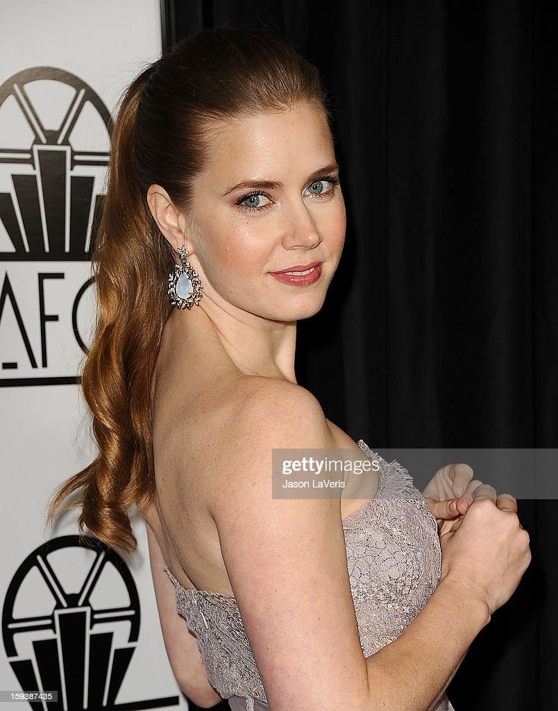 Actress <a gi-track='captionPersonalityLinkClicked' href=/galleries/search?phrase=Amy+Adams&family=editorial&specificpeople=213938 ng-click='$event.stopPropagation()'>Amy Adams</a> attends the 38th annual Los Angeles Film Critics Association Awards at InterContinental Hotel on January 12, 2013 in Century City, California.