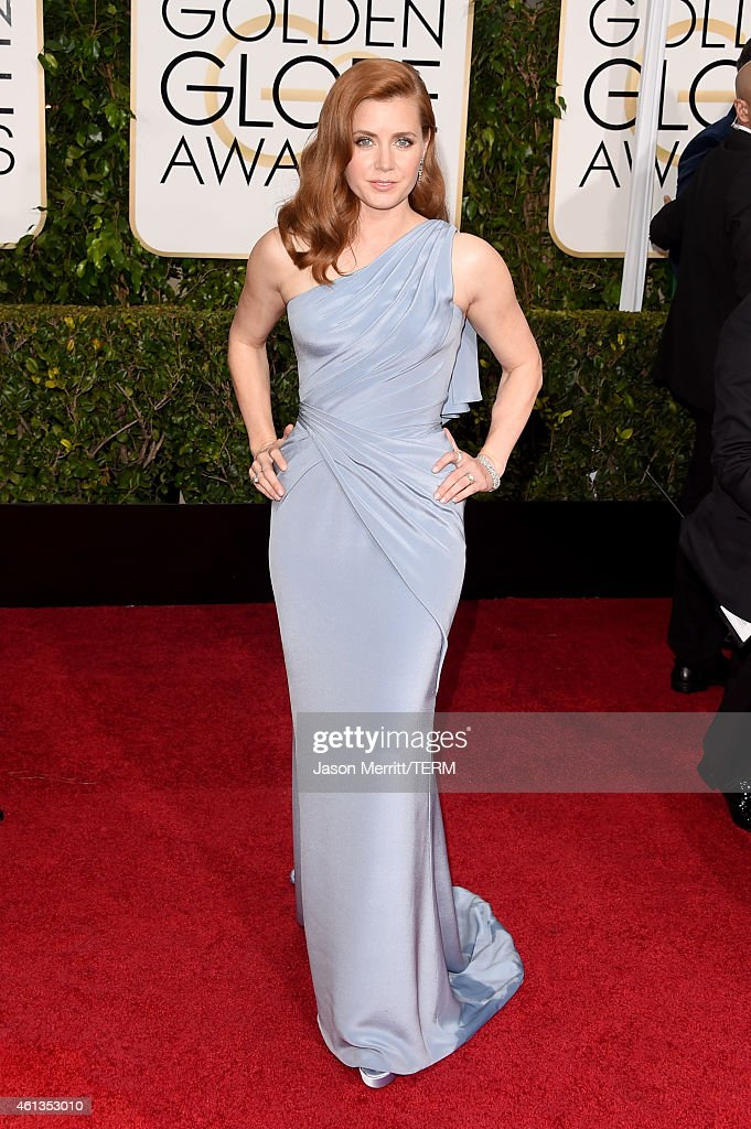 Actress <a gi-track='captionPersonalityLinkClicked' href=/galleries/search?phrase=Amy+Adams&family=editorial&specificpeople=213938 ng-click='$event.stopPropagation()'>Amy Adams</a> attends the 72nd Annual Golden Globe Awards at The Beverly Hilton Hotel on January 11, 2015 in Beverly Hills, California.