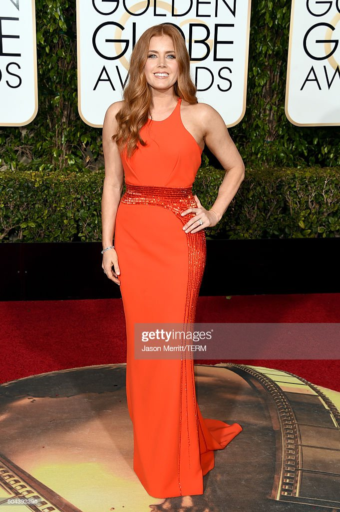 Actress <a gi-track='captionPersonalityLinkClicked' href=/galleries/search?phrase=Amy+Adams&family=editorial&specificpeople=213938 ng-click='$event.stopPropagation()'>Amy Adams</a> attends the 73rd Annual Golden Globe Awards held at the Beverly Hilton Hotel on January 10, 2016 in Beverly Hills, California.