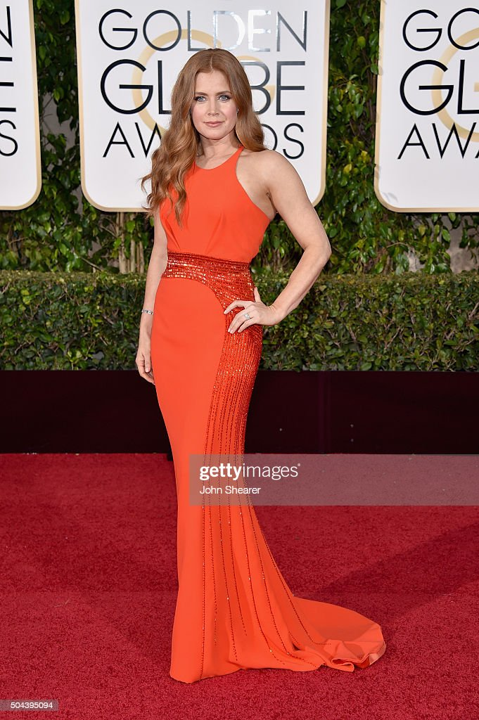 Actress Amy Adams attends the 73rd Annual Golden Globe Awards held at the Beverly Hilton Hotel on January 10 2016 in Beverly Hills California