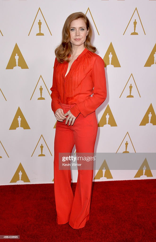 Actress <a gi-track='captionPersonalityLinkClicked' href=/galleries/search?phrase=Amy+Adams&family=editorial&specificpeople=213938 ng-click='$event.stopPropagation()'>Amy Adams</a> attends the 86th Academy Awards nominee luncheon at The Beverly Hilton Hotel on February 10, 2014 in Beverly Hills, California.