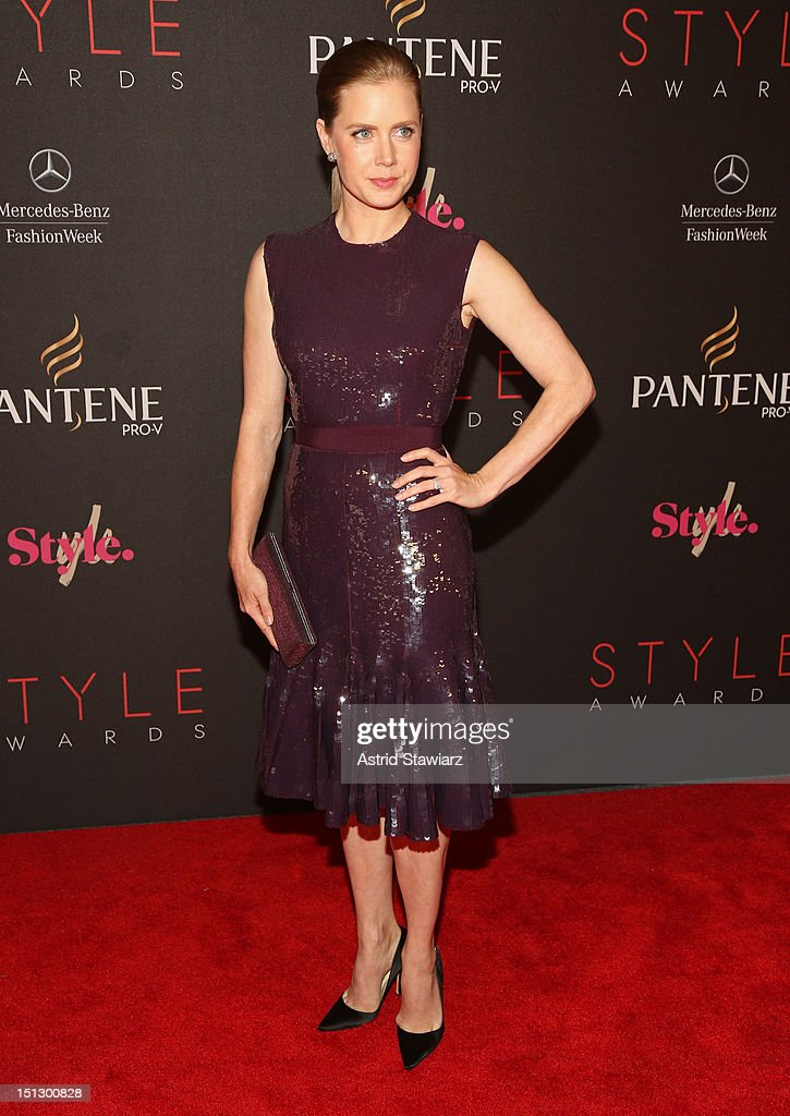 Actress <a gi-track='captionPersonalityLinkClicked' href=/galleries/search?phrase=Amy+Adams&family=editorial&specificpeople=213938 ng-click='$event.stopPropagation()'>Amy Adams</a> attends the 9th annual Style Awards during Mercedes-Benz Fashion Week at The Stage at Lincoln Center on September 5, 2012 in New York City.
