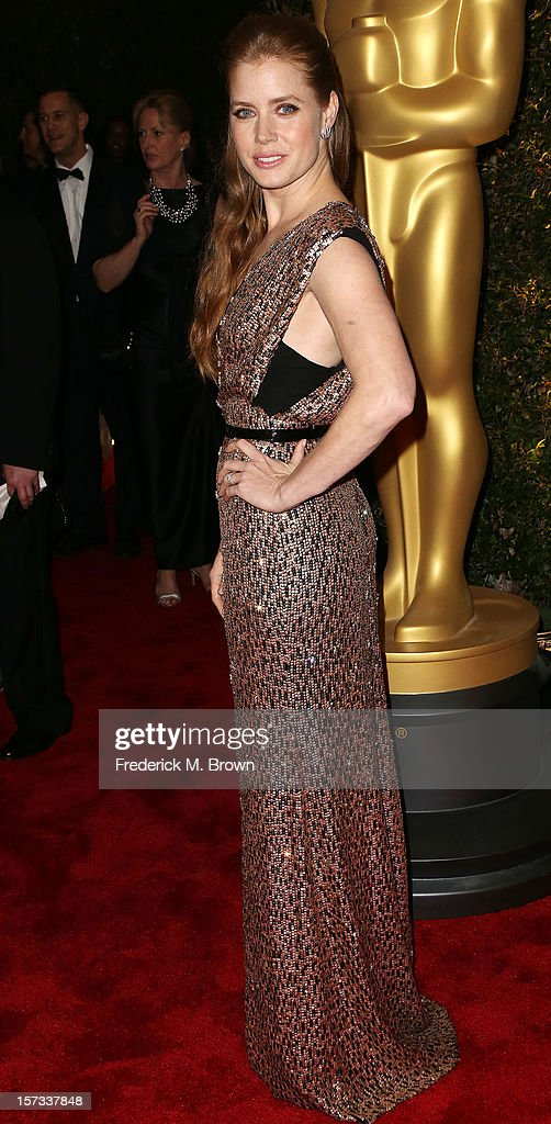 Actress Amy Adams attends the Academy Of Motion Picture Arts And Sciences' 4th Annual Governors Awards at Hollywood and Highland on December 1, 2012 in Hollywood, California.
