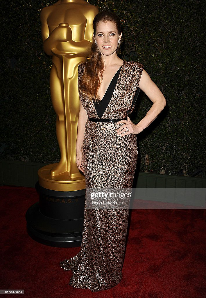 Actress <a gi-track='captionPersonalityLinkClicked' href=/galleries/search?phrase=Amy+Adams&family=editorial&specificpeople=213938 ng-click='$event.stopPropagation()'>Amy Adams</a> attends the Academy of Motion Pictures Arts and Sciences' 4th annual Governors Awards at The Ray Dolby Ballroom at Hollywood & Highland Center on December 1, 2012 in Hollywood, California.