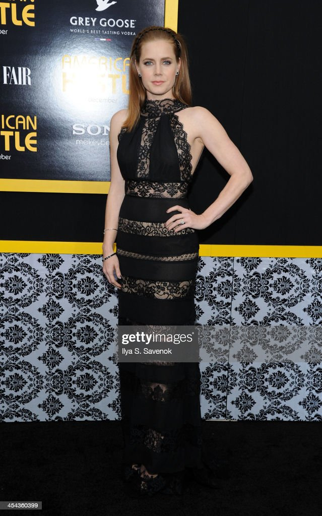 Actress <a gi-track='captionPersonalityLinkClicked' href=/galleries/search?phrase=Amy+Adams&family=editorial&specificpeople=213938 ng-click='$event.stopPropagation()'>Amy Adams</a> attends the 'American Hustle' screening at Ziegfeld Theater on December 8, 2013 in New York City.